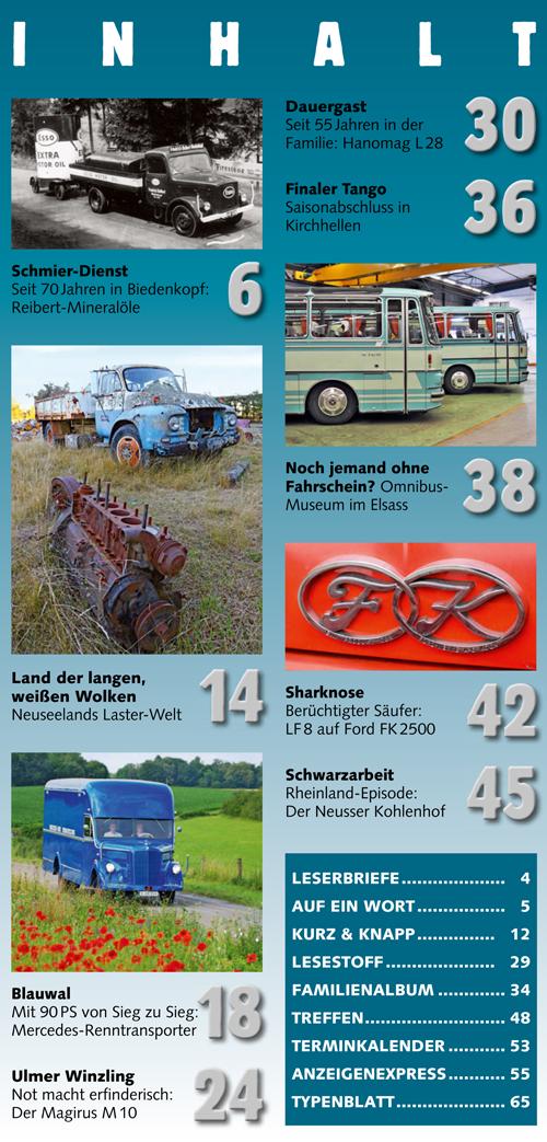 Inhalt Historischer Kraftverkehr 2016 - 6