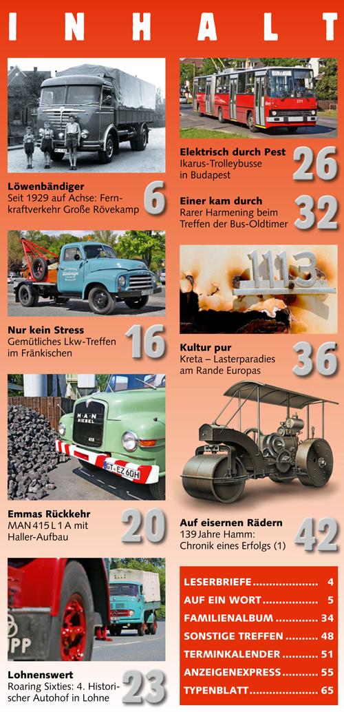 Inhalt Historischer Kraftverkehr 2017 - 4