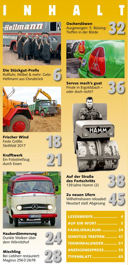 Inhalt Historischer Kraftverkehr 2017 - 5