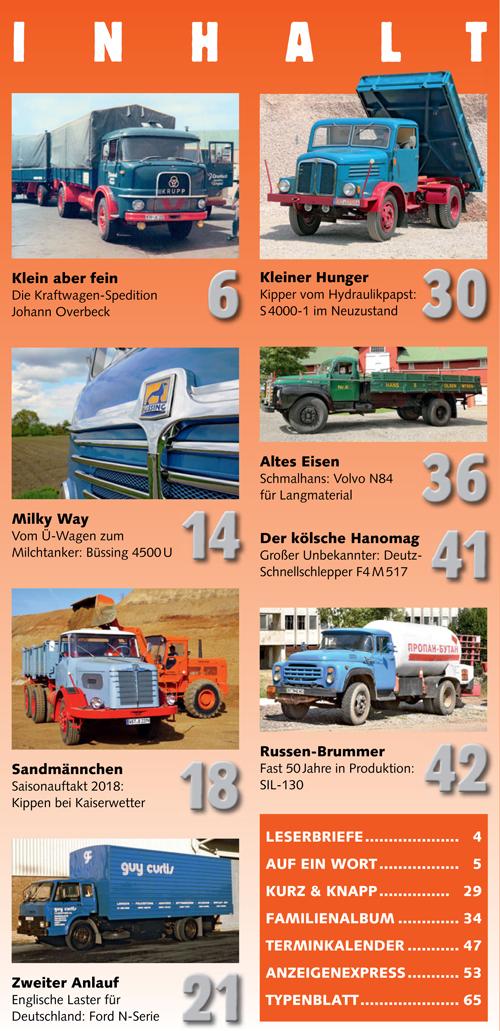 Inhalt Historischer Kraftverkehr 2018 - 3