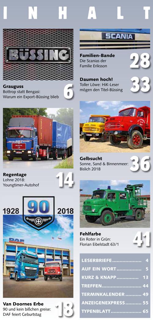 Inhalt Historischer Kraftverkehr 2018 - 4