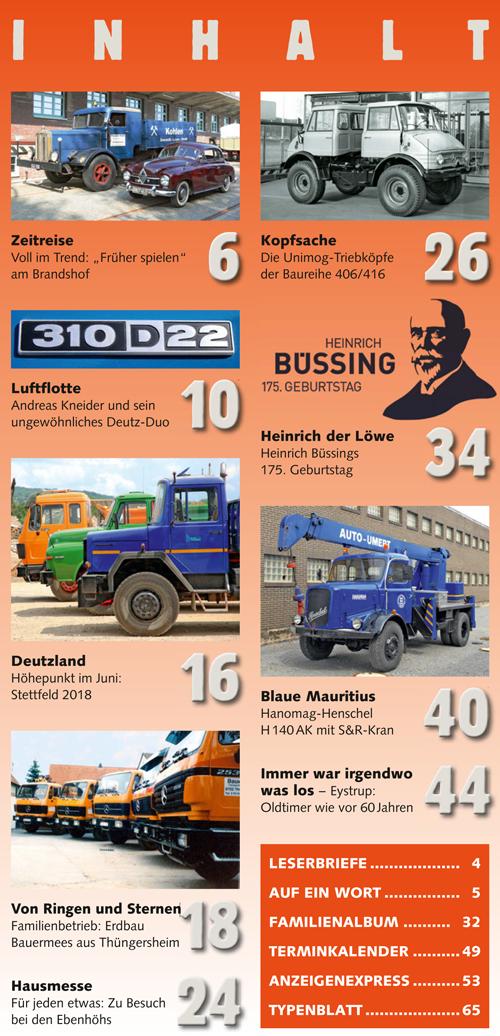 Inhalt Historischer Kraftverkehr 2018 - 5