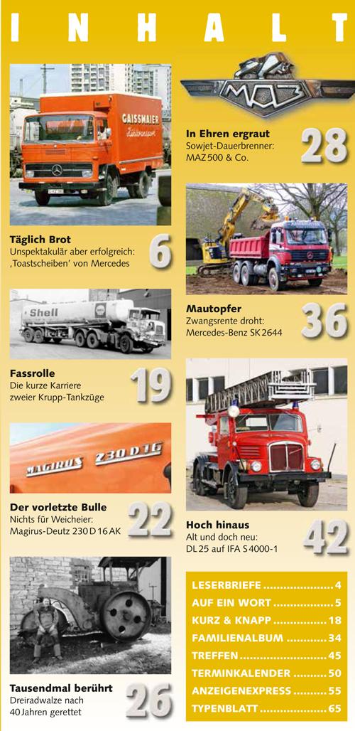 Inhalt Historischer Kraftverkehr 2019 - 1