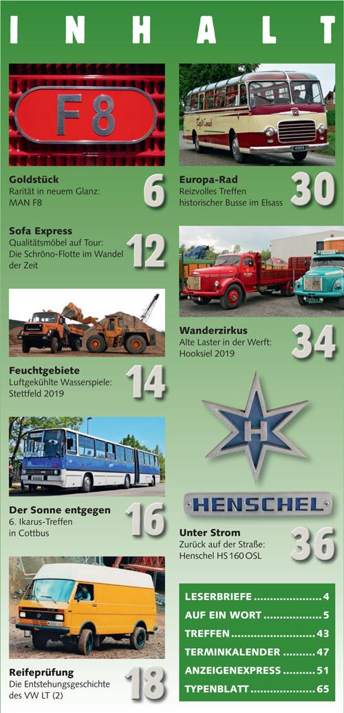 Inhalt Historischer Kraftverkehr 2019 - 4