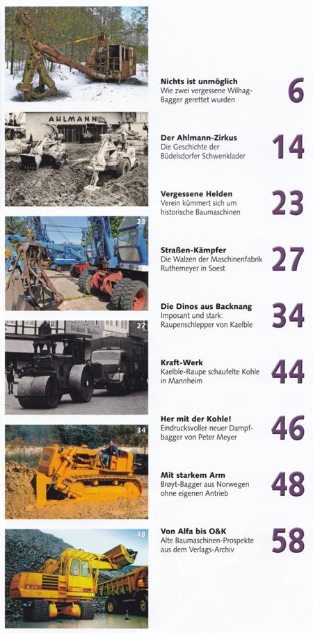 """Inhalt Schlepper Post """"Baumaschinen"""""""