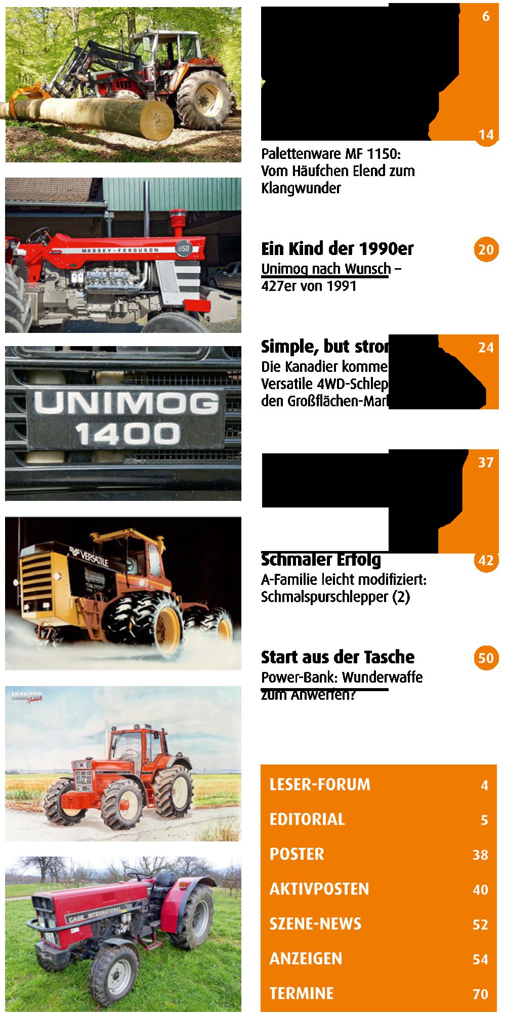 Traktor Spezial 23 Inhalt