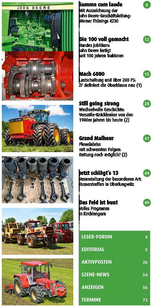 Inhalt Traktor Spezial 25