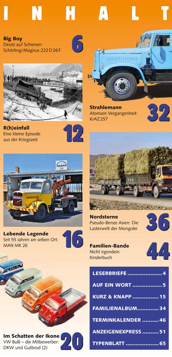 Inhalt Historischer Kraftverkehr 2020 - 4