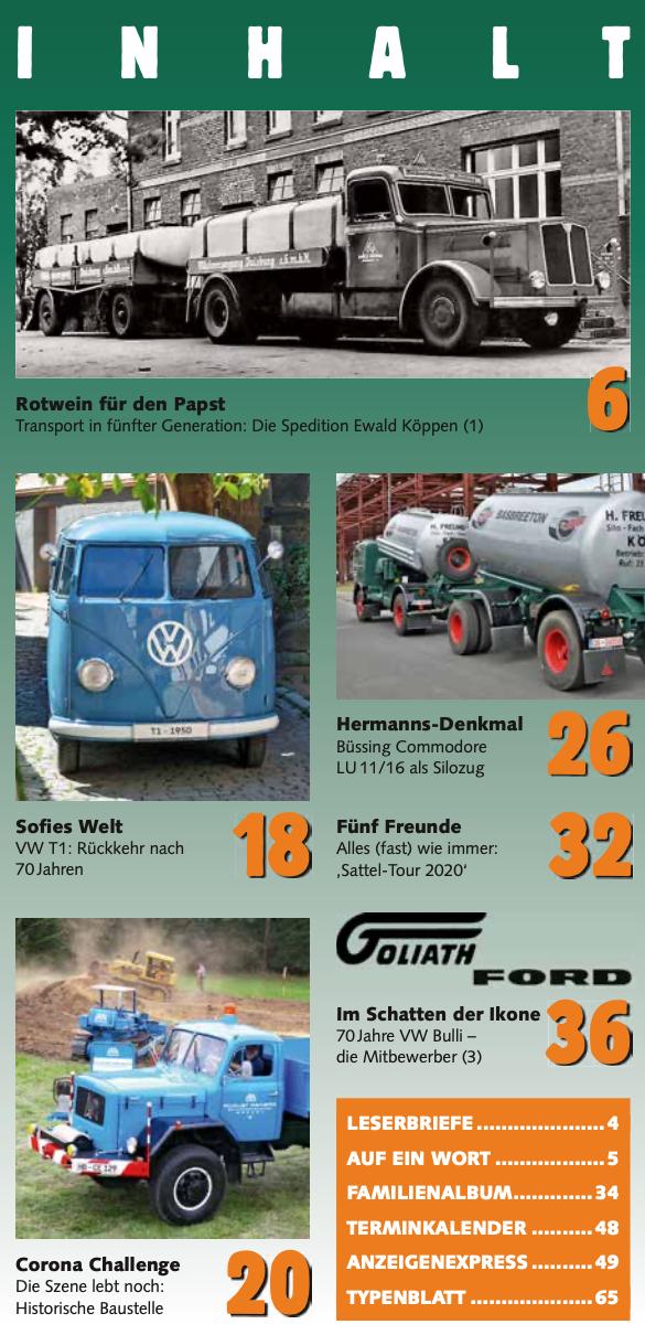 Inhalt Historischer Kraftverkehr 2020 - 5