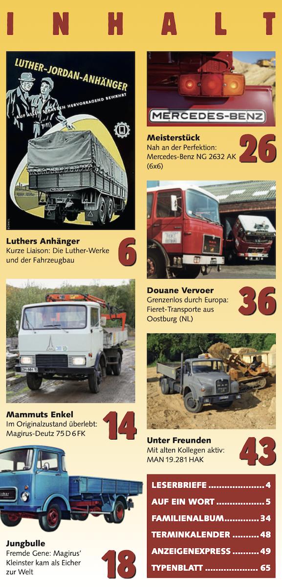 Inhalt Historischer Kraftverkehr 2021 - 3